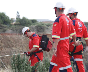 ER24's specialised units often attend to emergencies at mines, and require their own special PPE.